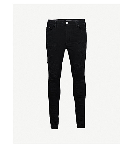 AMIRI Distressed slim-fit skinny jeans (Black
