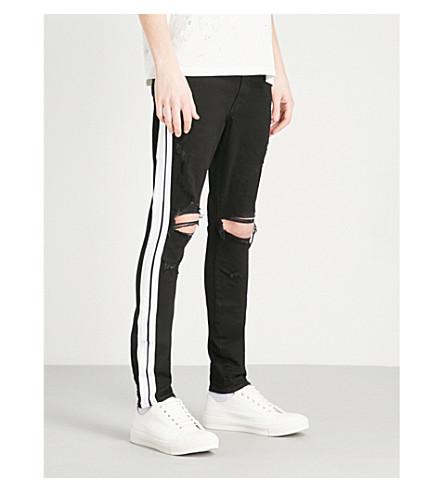 AMIRI Side-stripe slim-fit skinny jeans (Black++white