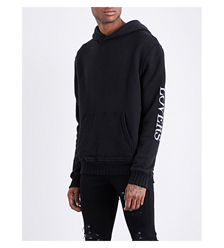 AMIRI Lovers cotton-jersey hoody (Black