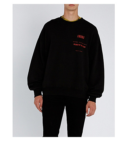 AMIRI Graphic logo-print cotton-jersey sweatshirt