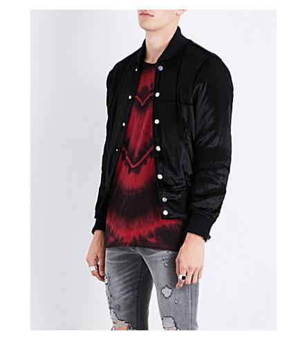 AMIRI Zipped-cuffs velvet bomber jacket (Black