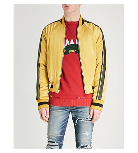 AMIRI Reversible silk-satin bomber jacket (Olive