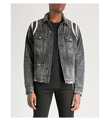 denim denim Black AMIRI Varsity Black trucker jacket trucker Varsity AMIRI jacket Iw1TAq0
