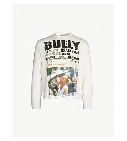 ENFANTS RICHES DEPRIMES Bully slogan-print cotton-jersey top (Cream