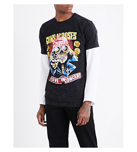 GUNS 'N' ROSES Bootleg Skull cotton-jersey T-shirt (Black