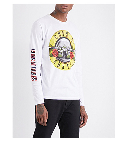 GUNS 'N' ROSES Bullet cotton-jersey T-shirt (White