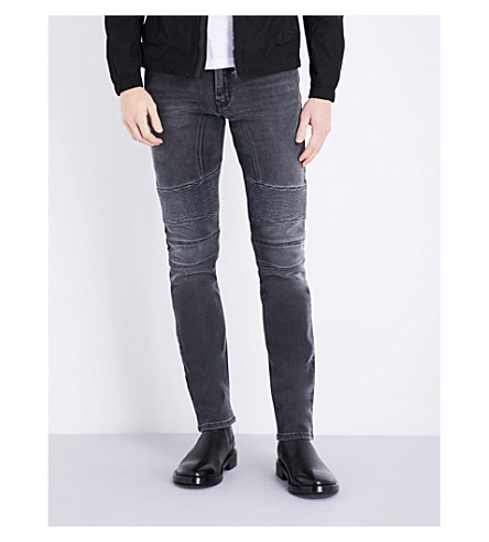 BELSTAFF Eastham slim-fit skinny jeans (Charcoal