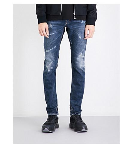PHILIPP PLEIN Slim-fit straight distressed jeans (Lennox+avenue