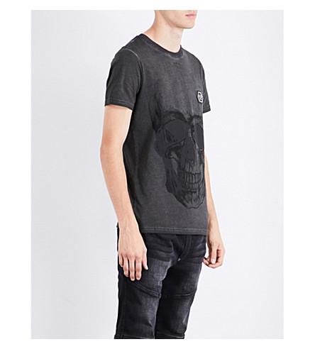PHILIPP PLEIN Skull-motif cotton-jersey T-shirt (Black