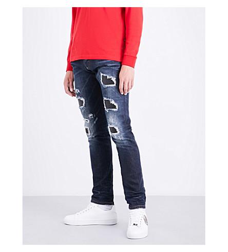 PHILIPP PLEIN Moroy slim-fit straight-leg jeans (Blue