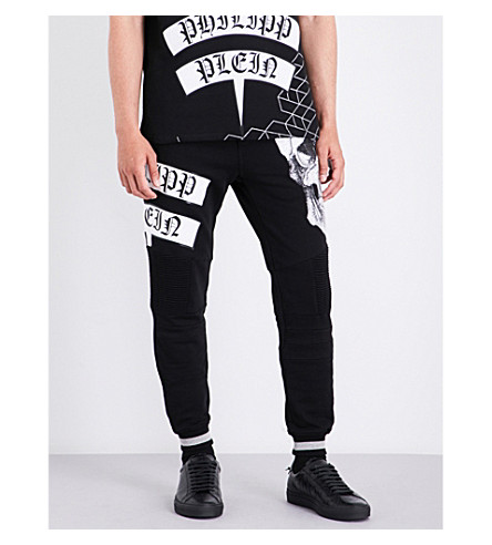 PHILIPP PLEIN Ikuko cotton-jersey jogging bottoms (Black