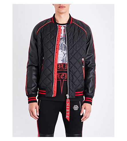 PHILIPP PLEIN Narita quilted shell bomber jacket (Black