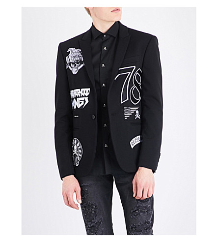PHILIPP PLEIN Gloria slim-fit woven jacket (Black