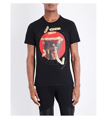 PHILIPP PLEIN Skull-print cotton-jersey T-shirt (Black