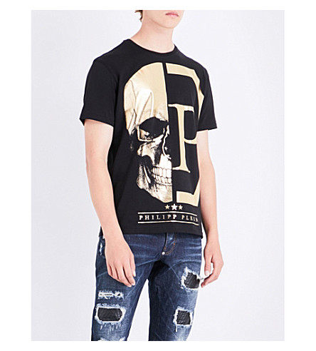 PHILIPP PLEIN Skull cotton-jersey T-shirt (Black