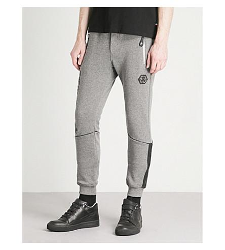 PHILIPP PLEIN Branded-embellishment jersey jogging bottoms (Grey