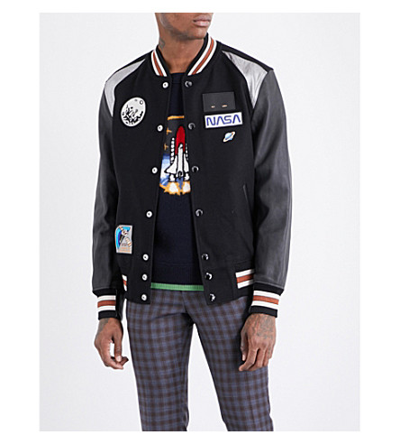 COACH Space wool-blend varsity jacket (Black