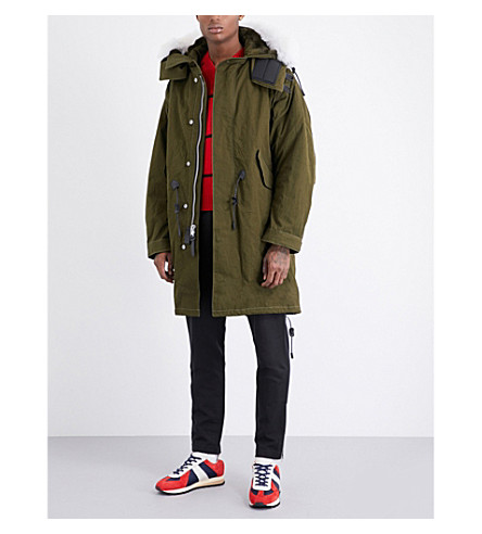 COACH Faux-fur hooded cotton parka jacket (Military