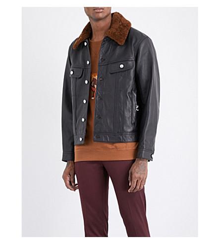 COACH Trucker leather jacket (Black