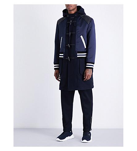 COACH Duffle Varsity Racer wool duffle coat (Navyblackdarknavyblue