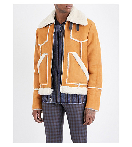 COACH Lumber shearling jacket (Toffee/natural