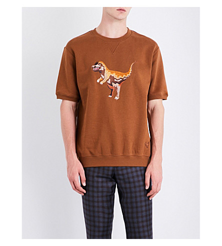 COACH Rexy short-sleeved cotton-jersey sweatshirt (Adobe