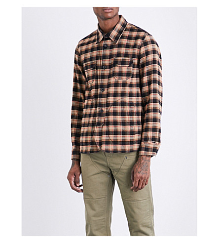 COACH Checked linen and wool-blend shirt (Plaid+black