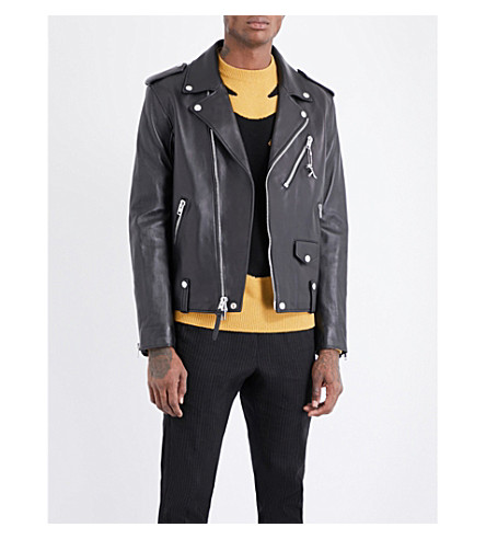 COACH Moto leather biker jacket (Black