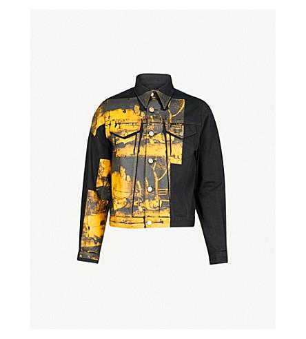 CALVIN KLEIN 205W39NYC Andy Warhol print denim jacket (Black