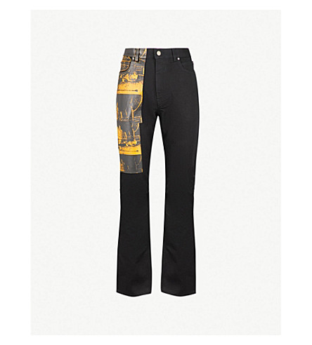 CALVIN KLEIN 205W39NYC Andy Warhol print relaxed-fit straight jeans (Black