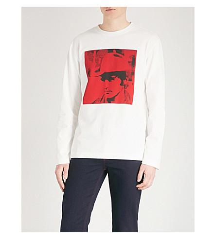 CALVIN KLEIN 205W39NYC Andy Warhol print cotton-jersey sweatshirt (White
