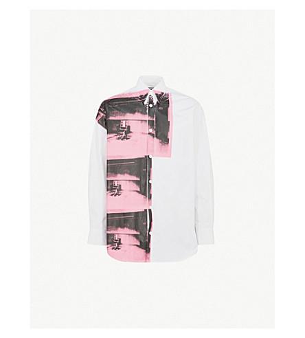 CALVIN KLEIN 205W39NYC Andy Warhol-print oversized cotton-poplin shirt (White