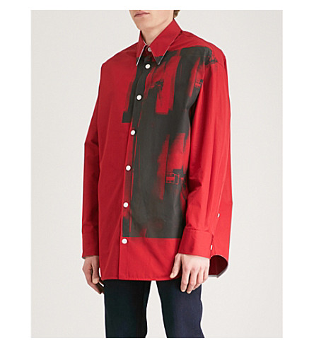CALVIN KLEIN 205W39NYC Andy Warhol-print cotton shirt (Red