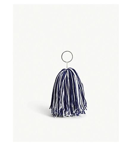 CALVIN KLEIN 205W39NYC Knitted pom-pom bag charm (Multi