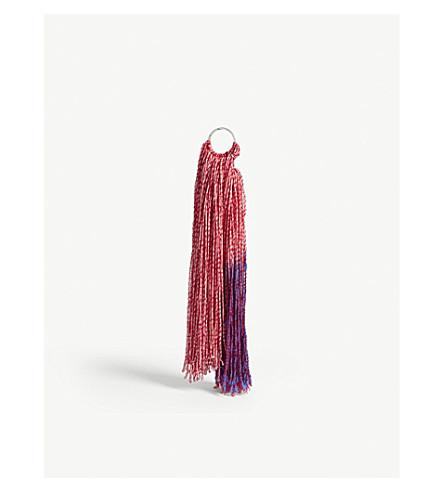 CALVIN KLEIN 205W39NYC Dip-dyed string keyring (White