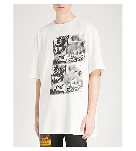 CALVIN KLEIN 205W39NYC Andy Warhol oversized cotton-jersey T-shirt (White