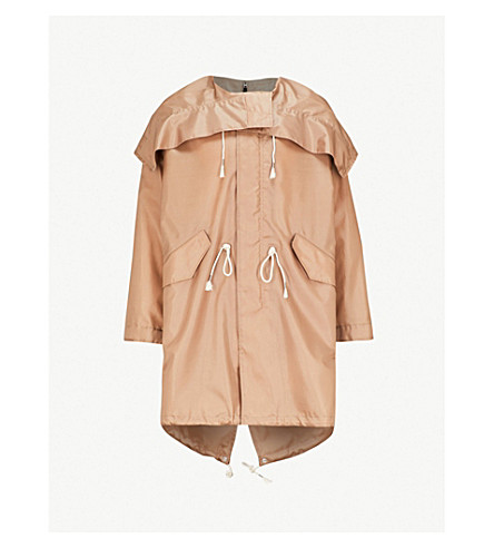 CALVIN KLEIN 205W39NYC Oversized shell hooded coat (Sand