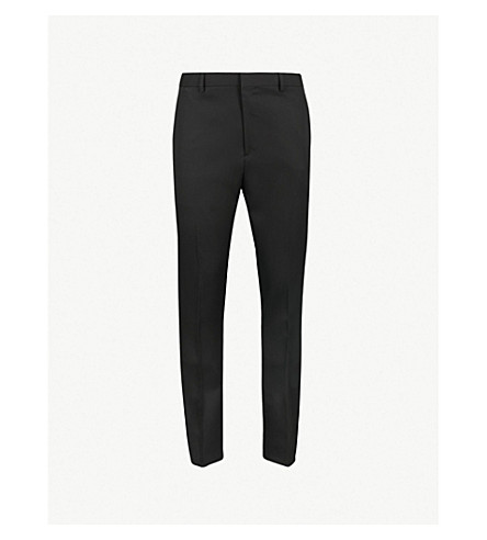 CALVIN KLEIN 205W39NYC Slim-fit tapered wool trousers (Black