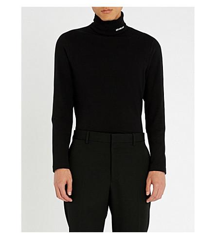 CALVIN KLEIN 205W39NYC Turtleneck cotton-jersey jumper Black Buy Cheap Store 88TrcW3s