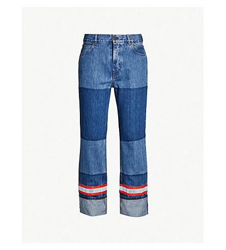 CALVIN KLEIN 205W39NYC Reflective-trim regular-fit jeans (Blue