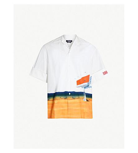 CALVIN KLEIN 205W39NYC Graphic scenic-print regular-fit cotton shirt (White