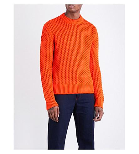 CALVIN KLEIN 205W39NYC Jacquard-knit wool-blend jumper (Orange
