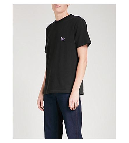 CALVIN KLEIN 205W39NYC Logo-embroidered cotton-jersey T-shirt (Black