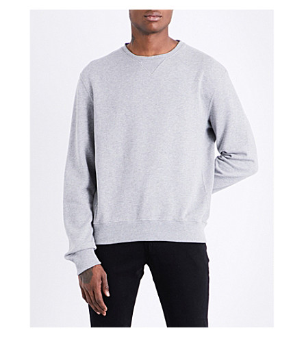 CALVIN KLEIN 205W39NYC Logo-patch cotton-jersey sweatshirt (Heather+grey
