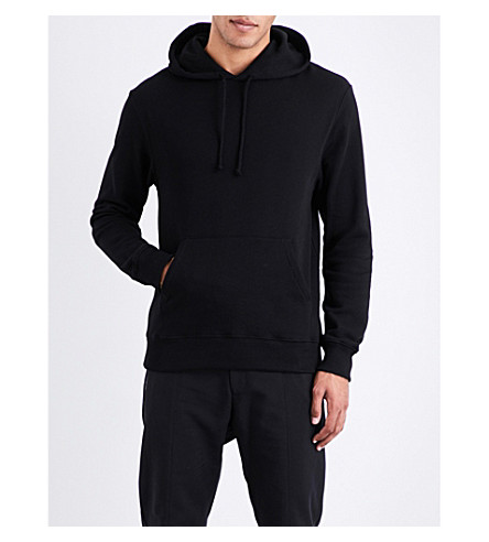 CALVIN KLEIN 205W39NYC Patch-detailed cotton-jersey hoody (Black