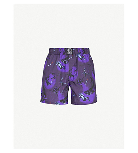 SSS WORLD CORP真棒游泳短裤 (蓝色