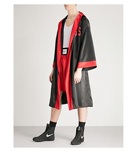 SSS WORLD CORP Lamyland peacemaker satin robe (Black
