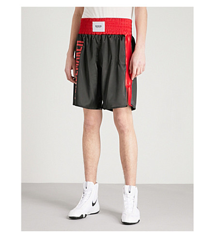 SSS WORLD CORP Lamyland satin boxing shorts (Black