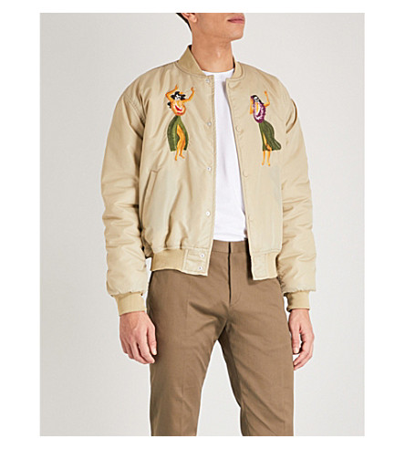 SSS WORLD CORP Cadillac shell bomber jacket (Safari