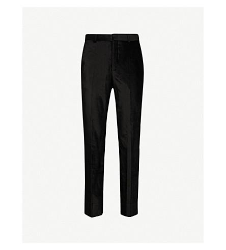 SSS WORLD CORP Gator regular-fit velvet pants (Black